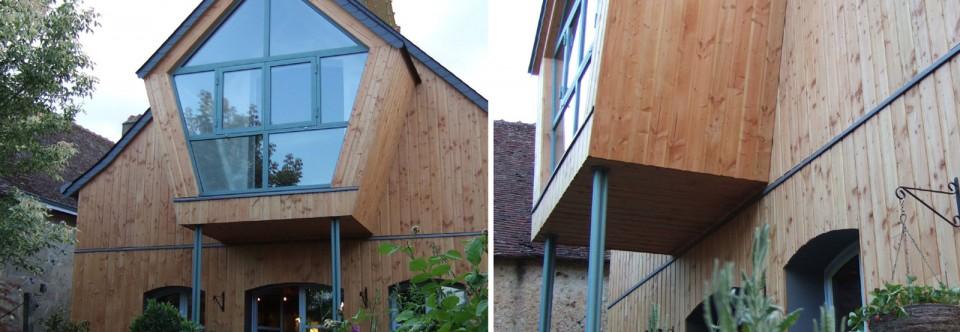Naud – Ravalement et extension en balcon fermé
