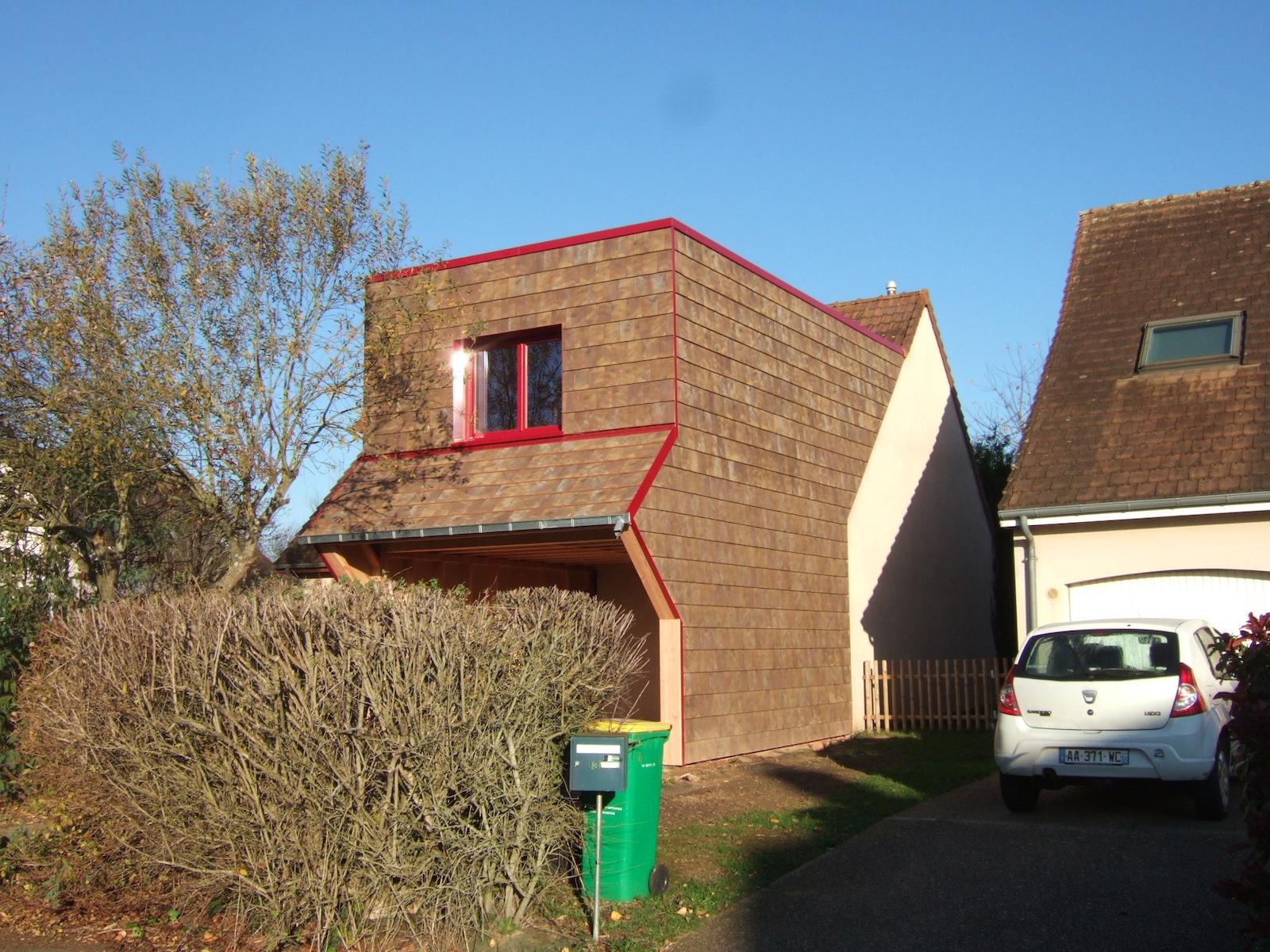 poak - extension d'un habitation en lotissement - archigraph
